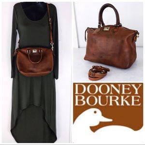 D & B Intentionally Distressed Cognac Juliette Bag